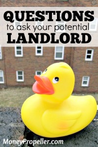 Things to ask a Potential Landlord
