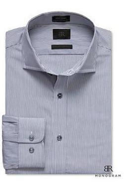 BR Monogram Micro-Stripe Shirt