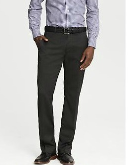 Classic-Fit Charcoal Suit Trouser