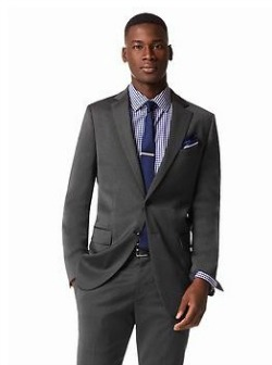 Classic-Fit Charcoal Wool Suit Jacket