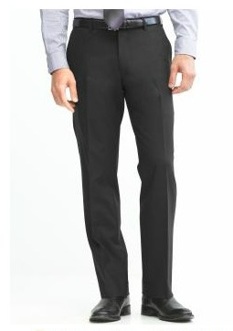 Classic Fit Solid Wool Trouser