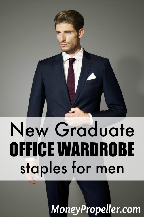 Here are new graduate office wardrobe staples for men, because jeans and hoodies just won't cut it anymore! Start with these key basics and build on them.
