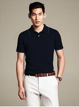 Tipped Sweater Polo