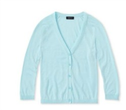 V NECK CARDIGAN WITH 3 4 SLEEVES