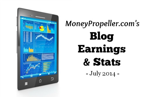 Blog Earnings and Stats July 2014