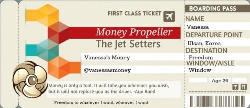 Vanessa's Boarding Pass