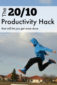 Use my 20-10 productivity hack to get way more done! It's perfect for chores and writing, but can be used for nearly anything.