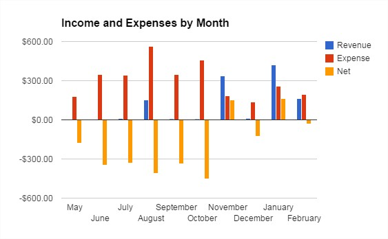 Money Propeller's income in February