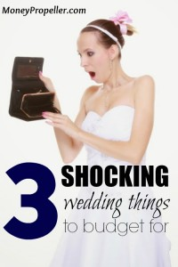 3 Shocking Wedding Things to Budget For