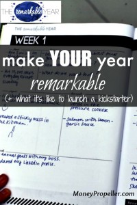Make Your Year Remarkable (+ What It's Like to Launch a Kickstarter)