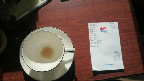 A Day in the Life of Anne - coffee and lists