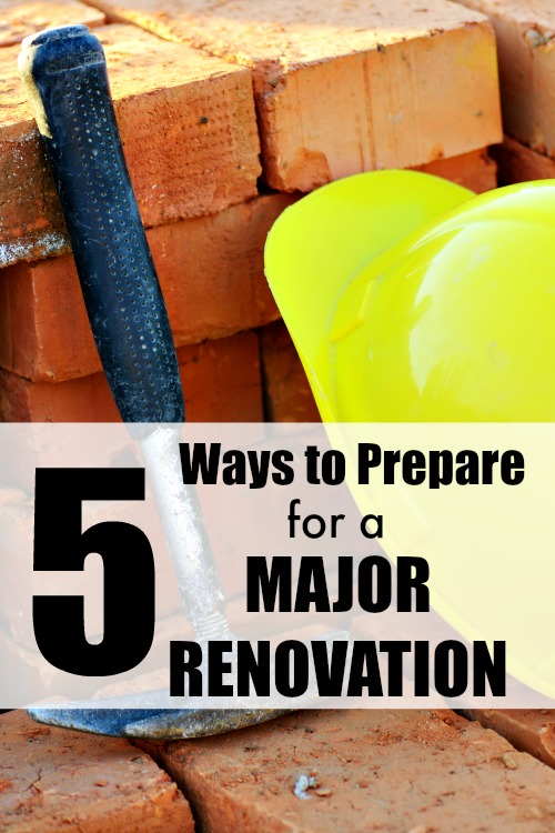 Have you been debating doing a kitchen renovation? Perhaps adding a large extension? Here are 5 ways to prepare for a major renovation, so that it doesn't turn your life upside down quite as much. Plan your reno well!