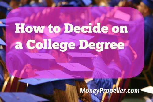 decide a college degree