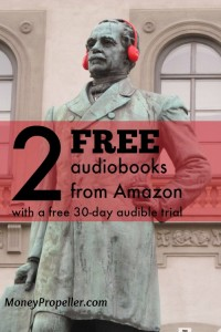 Amazon is giving away 2 free audiobooks with a FREE 30 day Audible trial. How awesome is that!