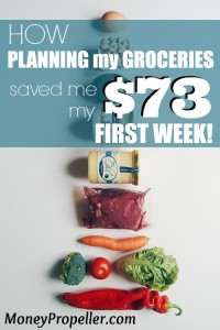I'm jumping in with two feet for a grocery budget makeover. Planning my groceries saved me $73 my first week. Can you reach that? I bet you can! Click for ideas on how to do it too!