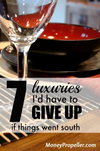 7 Luxuries I'd Have to Give Up If Things Went South